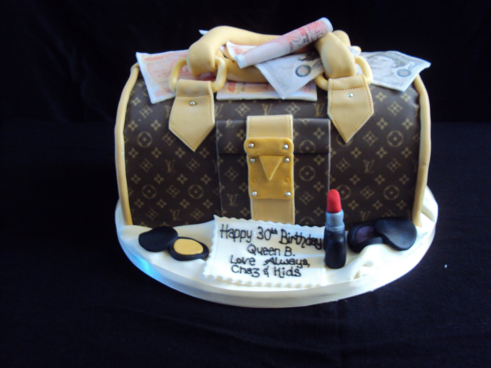 Mimi To You Sweet And Stylish Cakes Louis Vuitton Speedy Bag Full