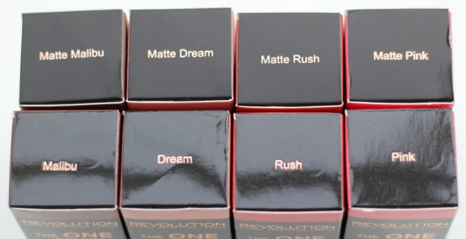 Makeup Revolution The One blush sticks in boxes