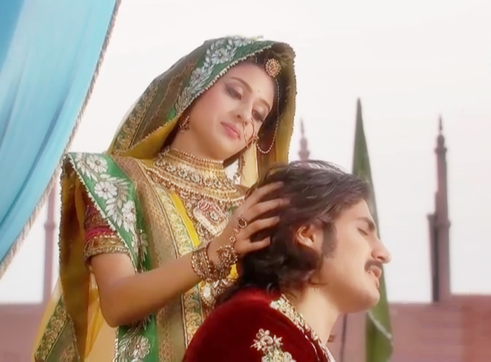 for jodha and ask in which thoughts you are jodha says i am thinking