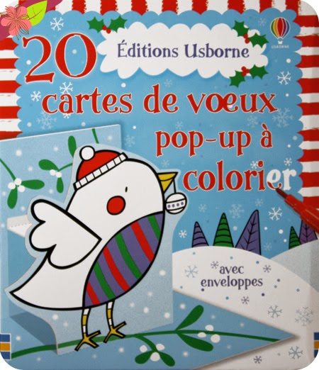 20 cartes pop-up de Noël à colorier aux éditions Usborne