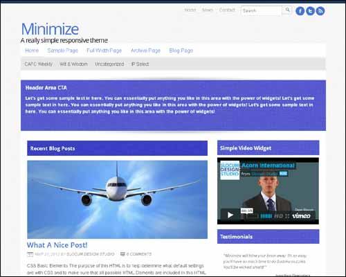 Minimize WordPress Theme