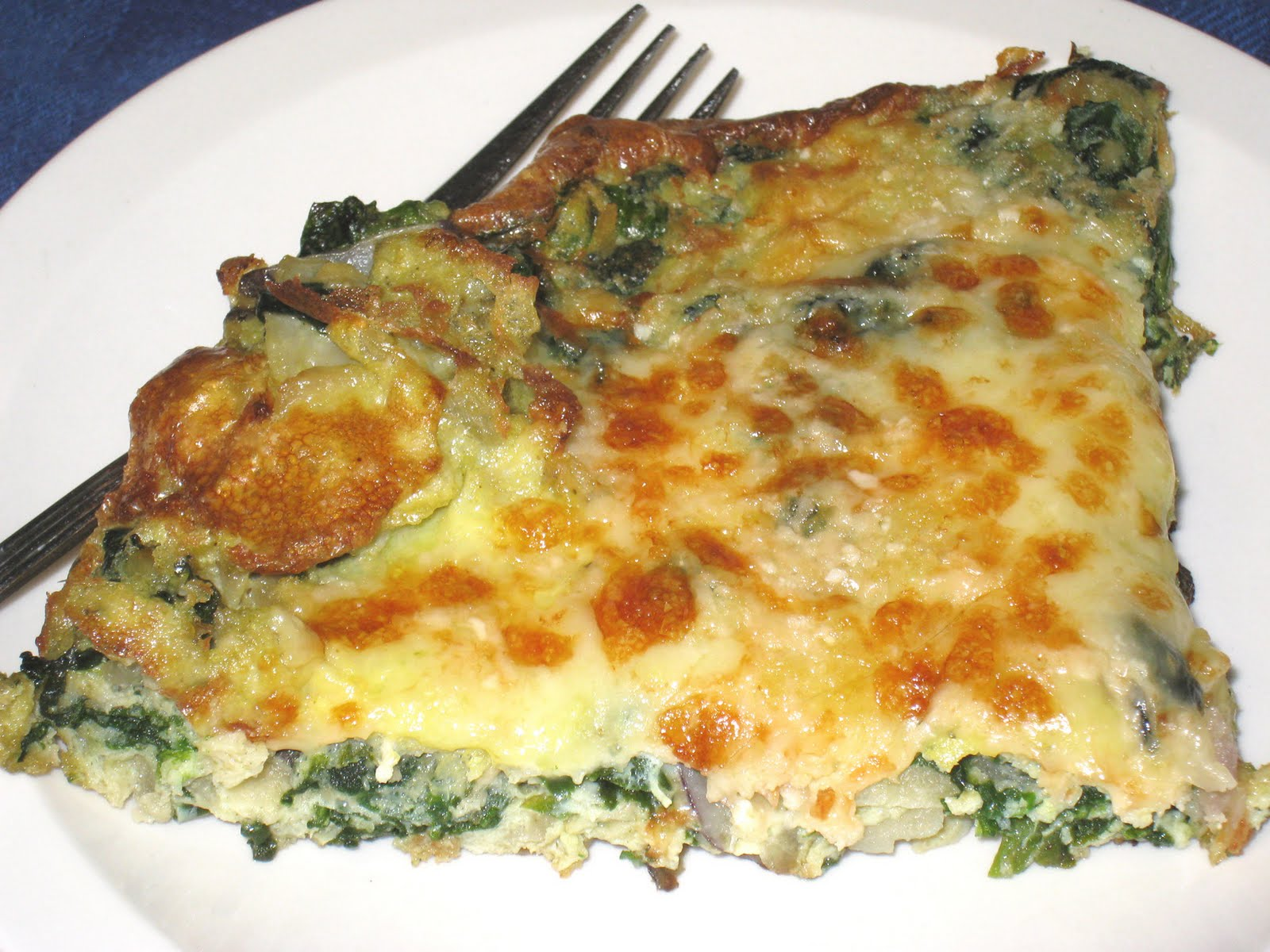Cooking without a Net: Green Market Spinach and Potato Frittata