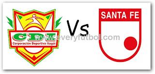 Ver Itagui Vs Santa Fe Online En Vivo