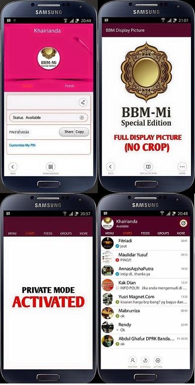BBM-MI Mod Tema Special Grin Emotikon Versi 2.7.0.23