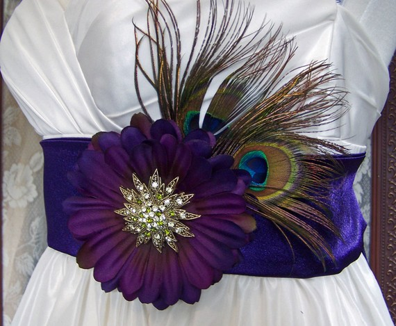 Amethyst in Vintage Beauty Bridal Sash