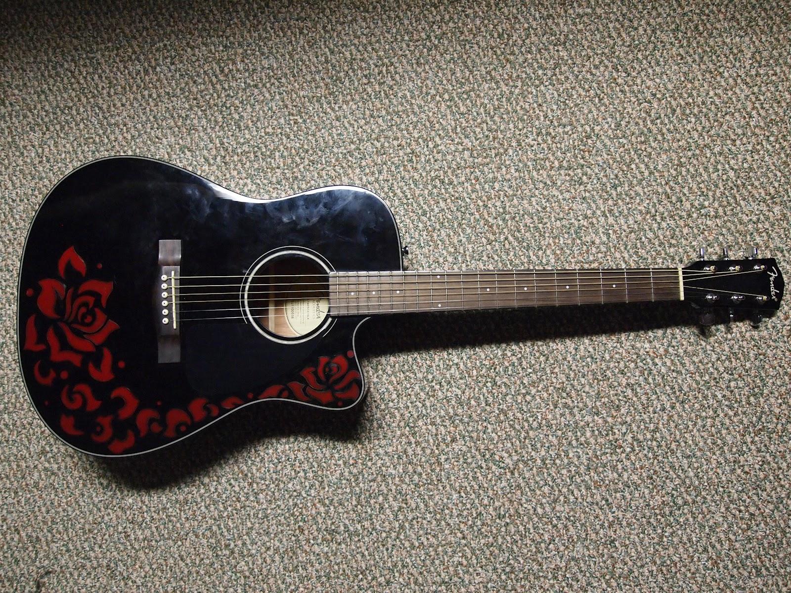calypso guitar designs rose fender acoustic