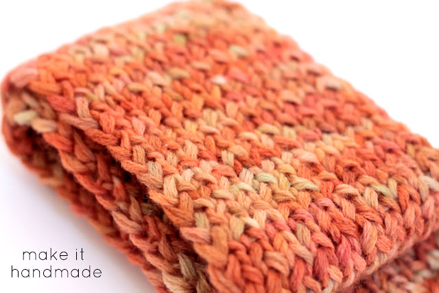 Free Child's Keyhole Scarf Pattern: The Sunset Scarf by Make It Handmade
