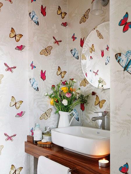 Mariposas en la pared decorar tu casa es - Decoracion papel pintado ...