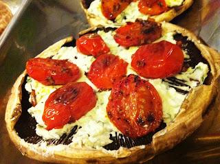 Portobello, tomato & goat cheese