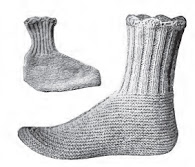 Women's Wool Socks Knitting Pattern $1.95