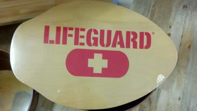 lifeguard tm skim board decor sign
