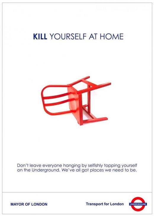 Fiktive Londond Underground Werbekampagne für die Chip Shop Awards.