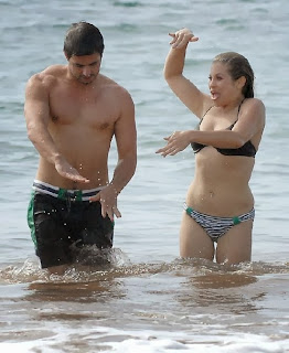 Danielle Fishel Black Bikini Hawaii