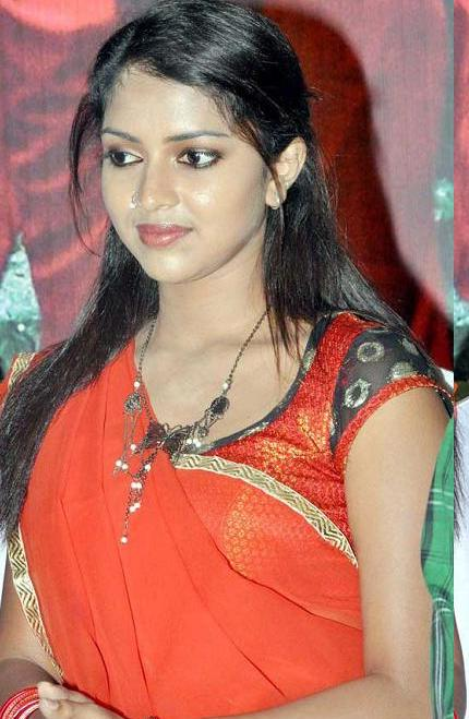 Amala Paul Hot in Red Saree Latest Photos