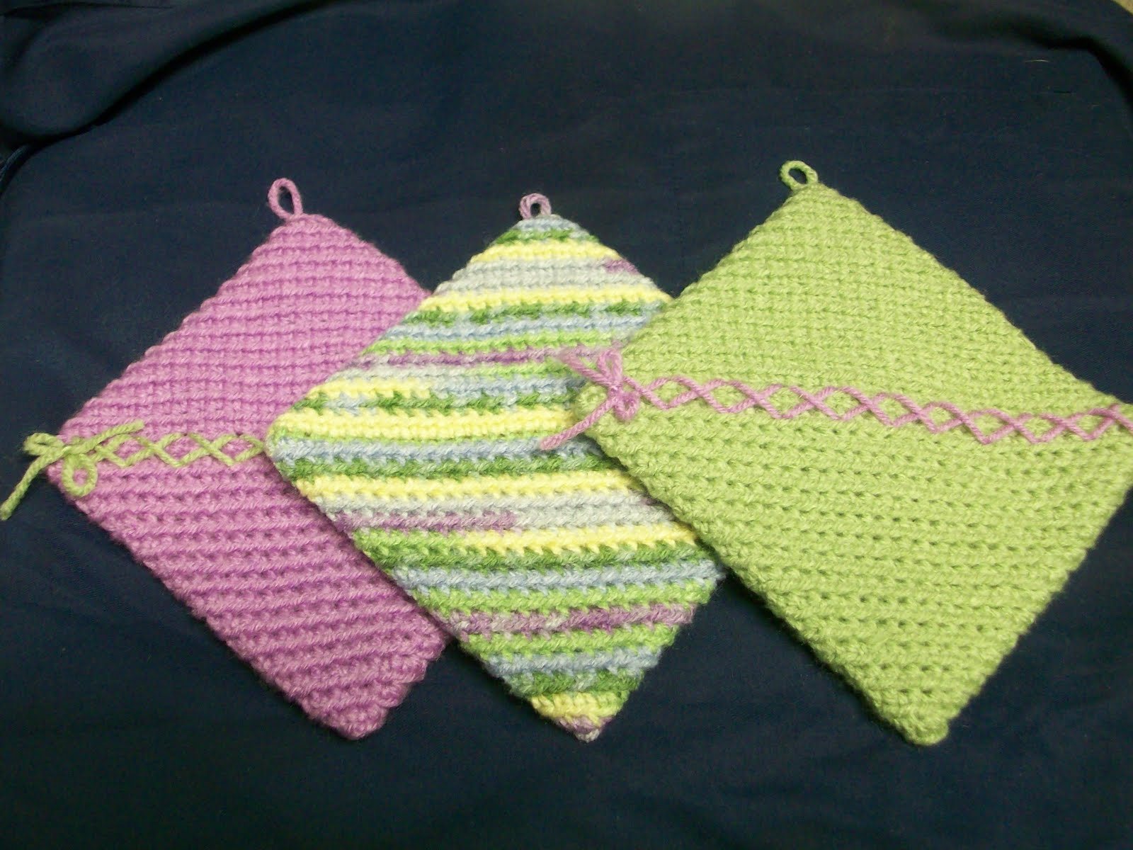 Crocheting Hotpads : My Crocheted World: Free Hotpad/Potholder Instructions