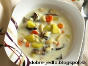Fazuľová polievka s hríbmi a vajcom - recept
