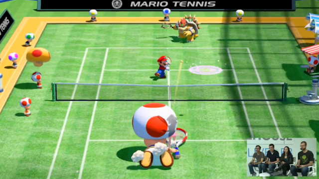 Toad trip fall Mario Tennis: Ultra Smash mega racket
