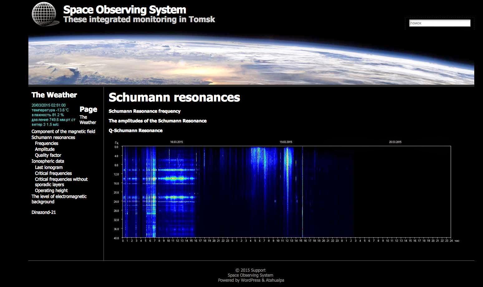 Schumann Resonance now at 16.32 Hz (years ago it was around 7 Hz)  Schumann-resonance-18Mar2015