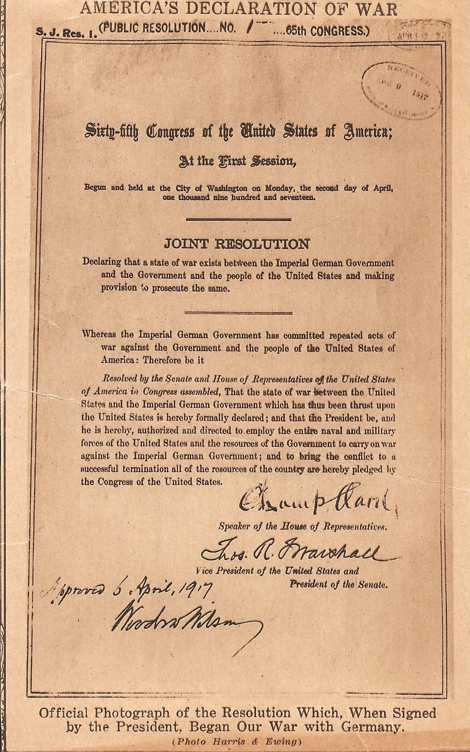 declaration for war in 1917 essay How important was ww1 in causing the russian revolution of february 1917 the first world war was very the war was a great factor in causing the revolution of february 1917 the war lost the tsar the support of the army sign up to view the whole essay and download the pdf for.