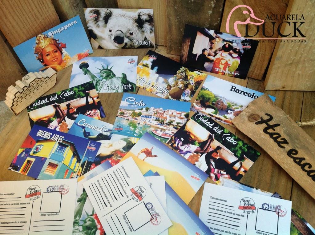 postales boda viajera