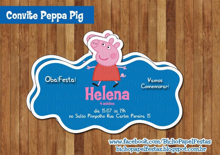 Arte Convite Peppa Pig