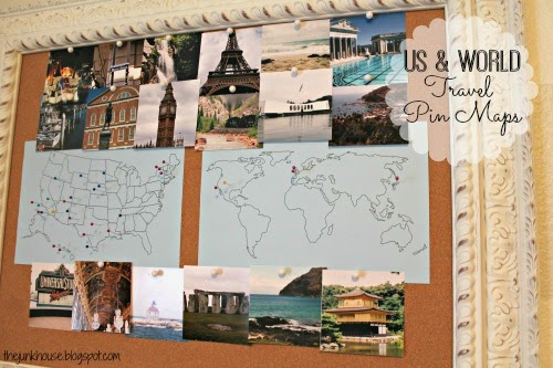 Away She Went Places Ive Been US and World Travel Pin Maps – Travel Map Where I Ve Been