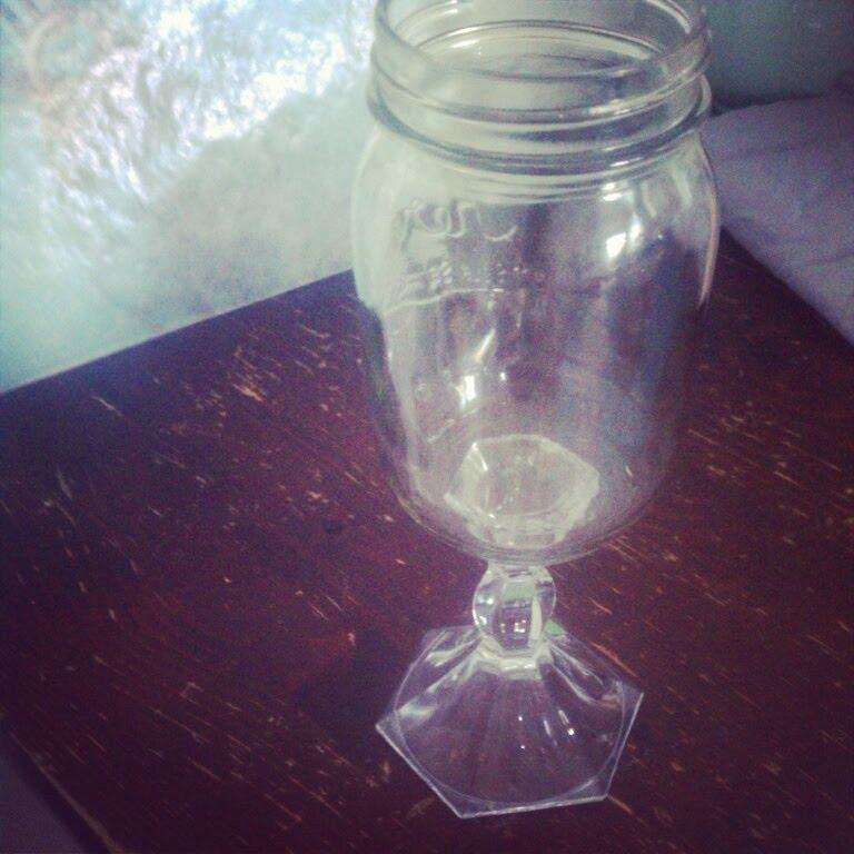 Emilee Sutherland Mason Jar Wine Glass DIY