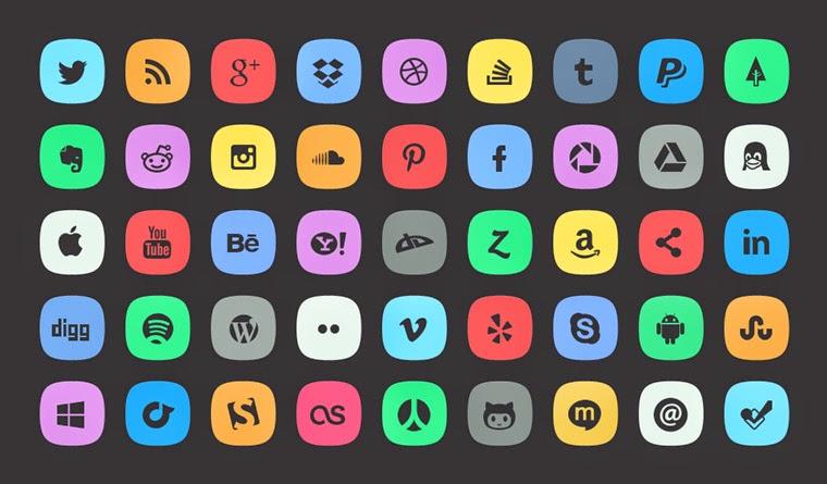 45 Free Social Media Icons
