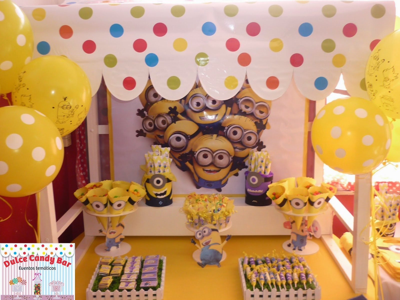 Dulce candy bar eventos tem 225 ticos minions para vito en sus 3