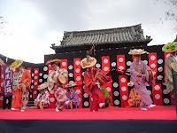 出雲風流花踊りは亀岡から参加だった