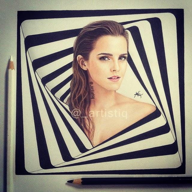 04-Emma-Watson-Cas-_artistiq-Colored-Celebrity-and-Cartoon-Drawings-www-designstack-co