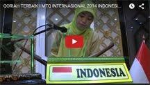 QORIAH TERBAIK I MTQ INTERNASIONAL 2014 INDONESIA (HJ. MIFTAHUL JANNAH)