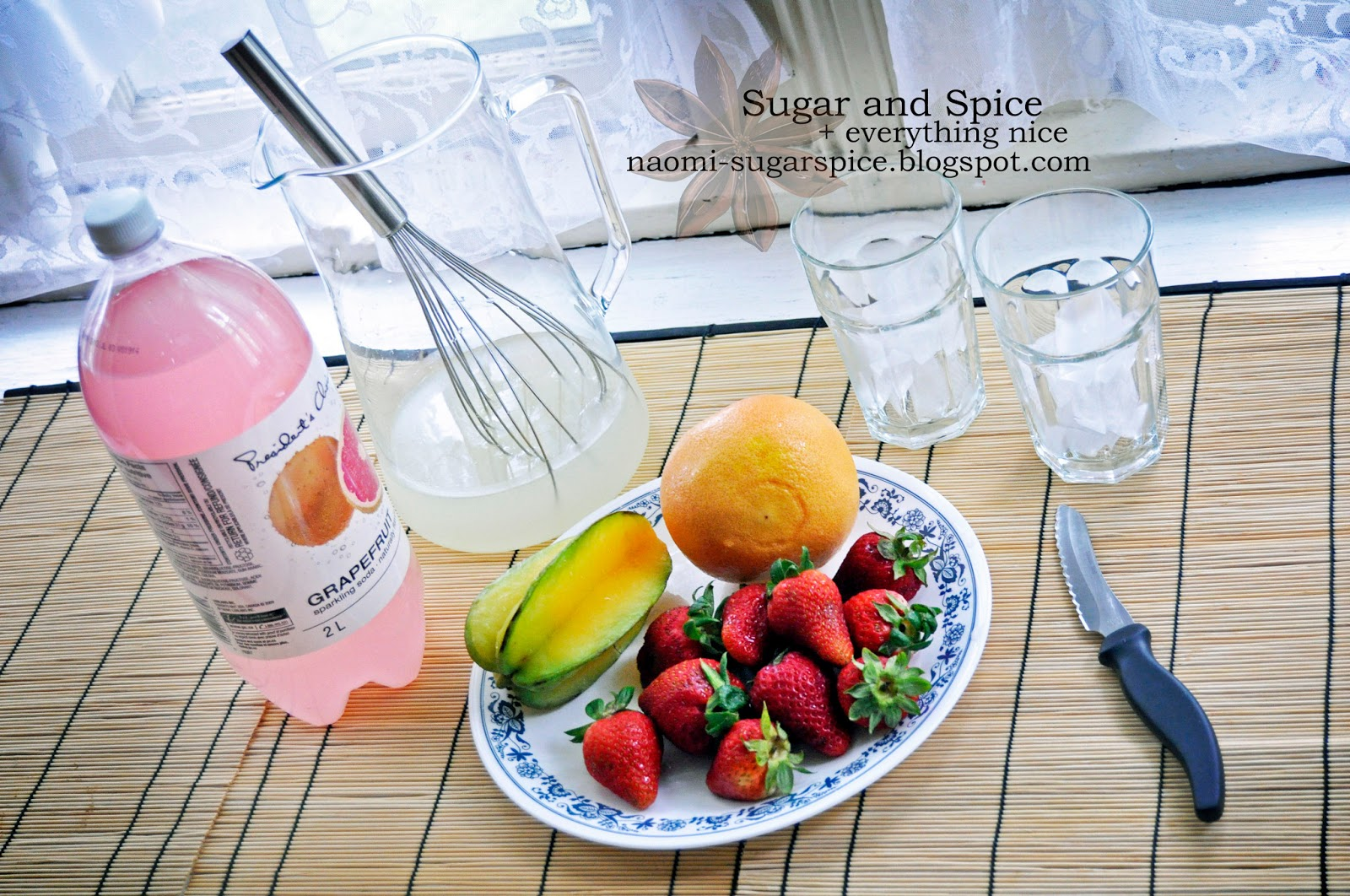 Citrus Punch with Fresh Strawberries and Star Fruit