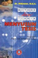 toko buku rahma: buku METODE DAN TEKNIK MENYUSUN TESIS, pengarang riduwan, penerbit alfabeta bandung