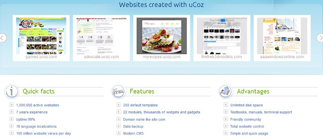 Create website on Ucoz