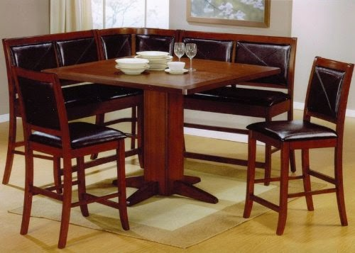 6pc counter height dining table