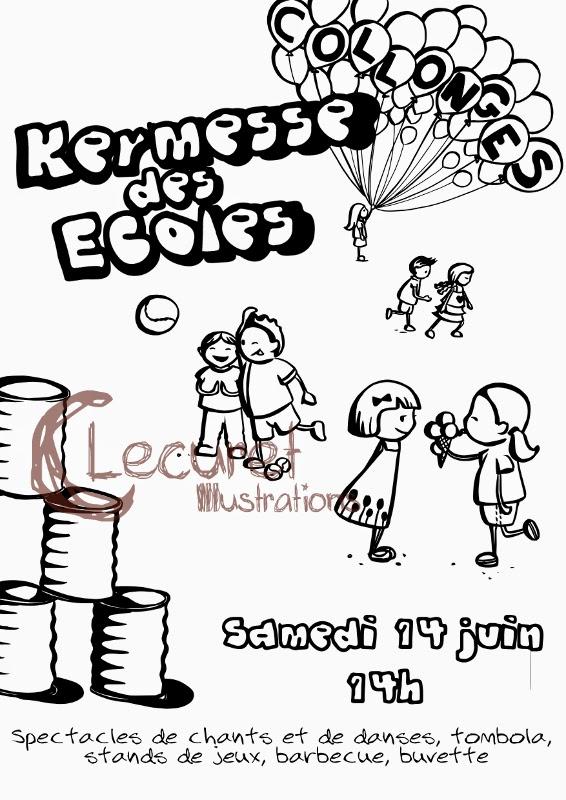 Coloriage Kermesse Ecole.Les Devoirs D Aquarl Une P Tite Affiche Pour La Kermesse