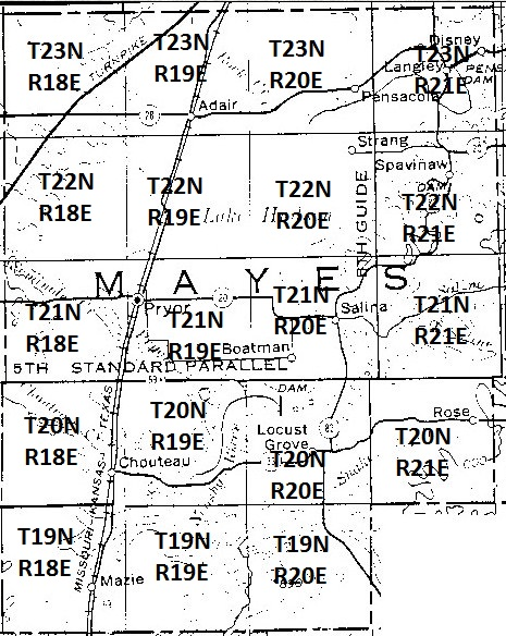 Places To Search For Ancestors Mayes County OK - Oklahoma county maps