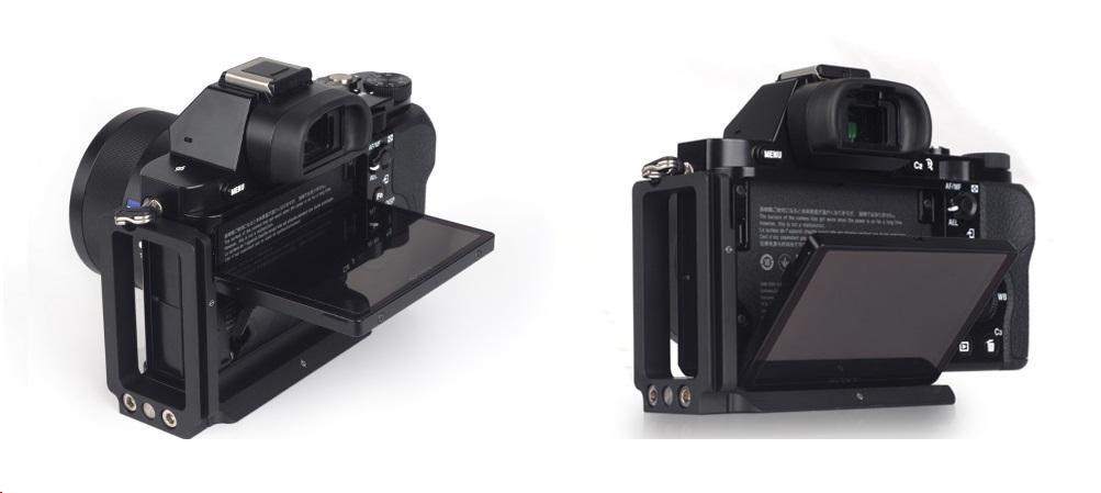 SONY a7 w/ Sunwayfoto PSL-a7II L Bracket rear LCD screen tilted