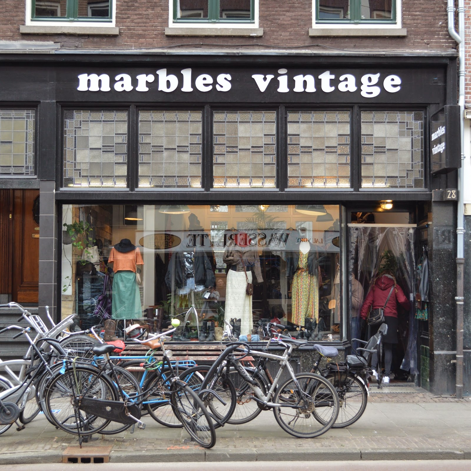 Marbles vintage shop shopping Amsterdam