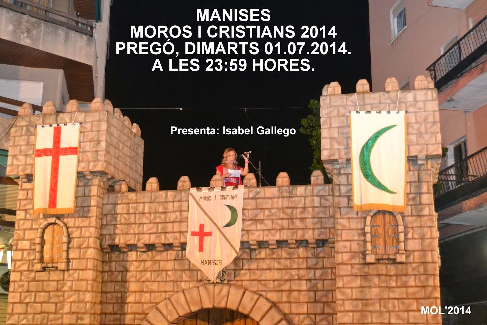 PREGÓN DE LAS FIESTAS DE MOROS I CRISTIANS DE 2014