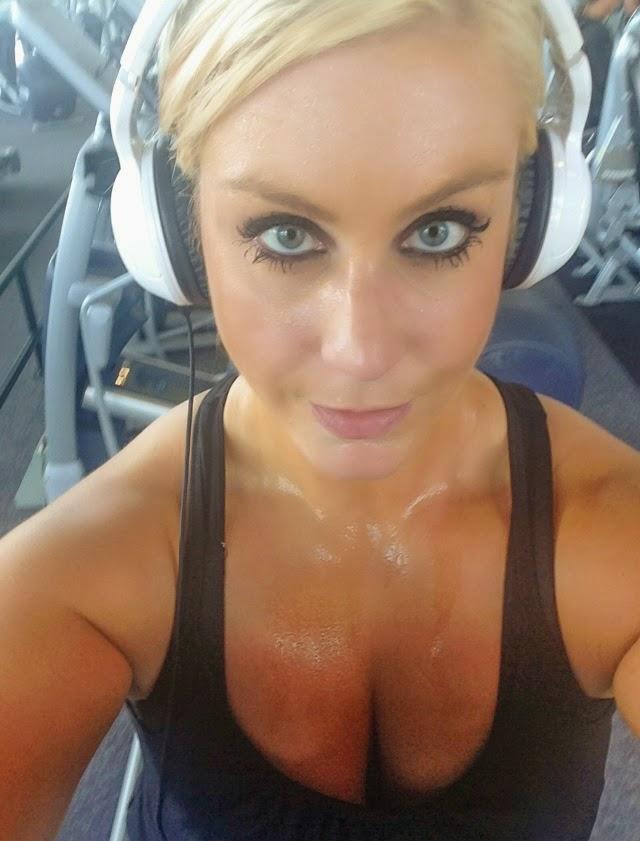 sweaty girls Hot workout