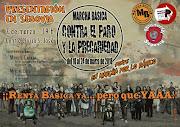 Presentación en Segovia de la Marcha Básica contra el paro y la precariedad el 7 de Marzo