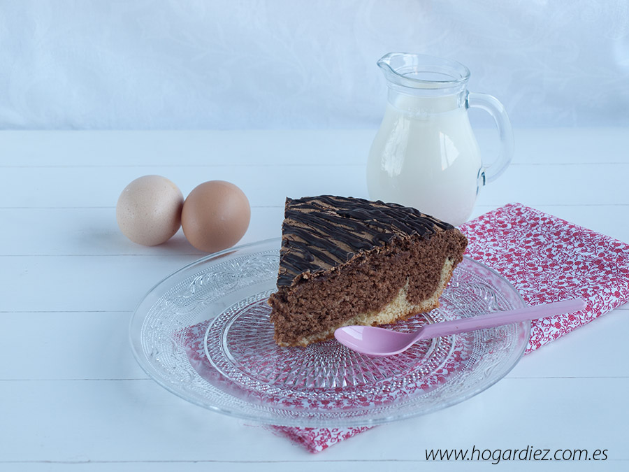 Bizcocho chocolate y vainilla