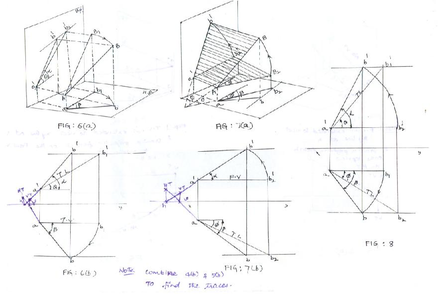 Planes Engineering Drawing Orthographic Projection of