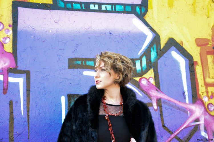 Outfit Post: Little Black Dress and the Graffiti Wall