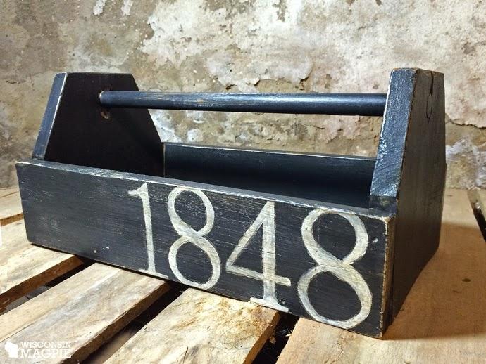 painted wood toolbox