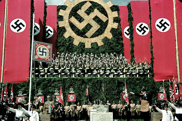 nazi organization in world war ii On the eve of world war ii, the german american bund insisted the nazi salute was as american as apple pie americans for hitler.