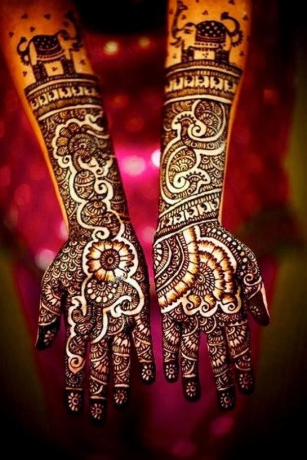 Beautiful Henna Mehndi Designs : Beautiful indian mehndi design for girls and women