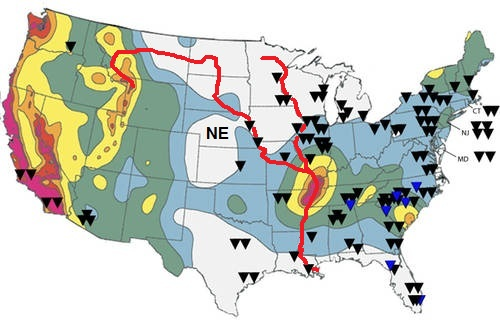 The Brain Police Mumbley Peg - Map of us after new madrid earthquake